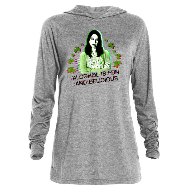 Parks and Recreation Alcohol is Fun and Delicious St. Patrick's Day Tri-Blend Raglan Hoodie