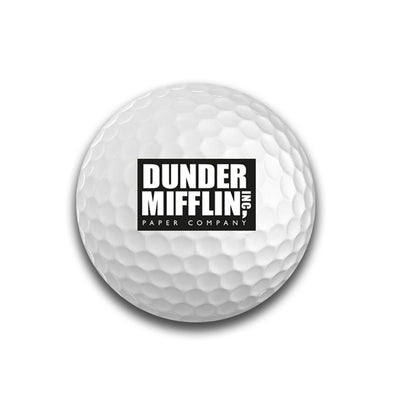 The Office Dunder Mifflin Golf Balls - Set of 6