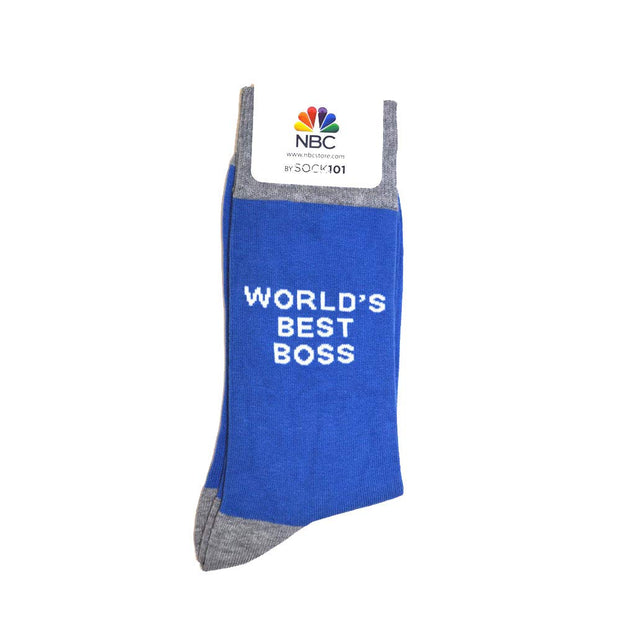 The Office World's Best Boss Dunder Mifflin Custom Knit Socks