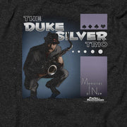 Parks and Recreation The Duke Silver Trio Black Heather Short Sleeve T-Shirt
