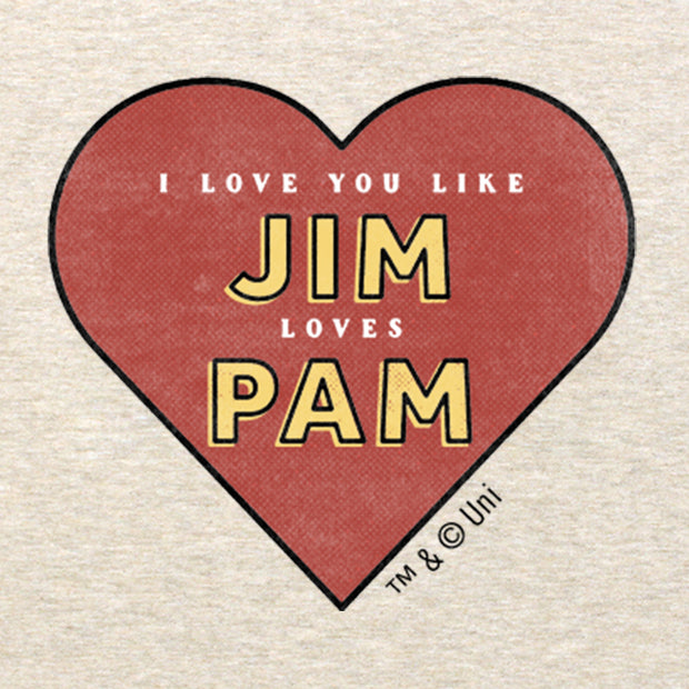 The Office Jim Loves Pam Lightweight Zip Up Hooded Sweatshirt
