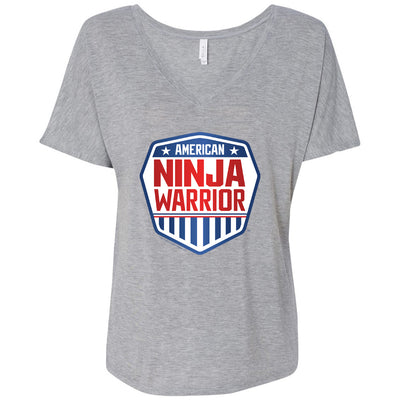 American Ninja Warrior Women's Relaxed V-Neck T-Shirt