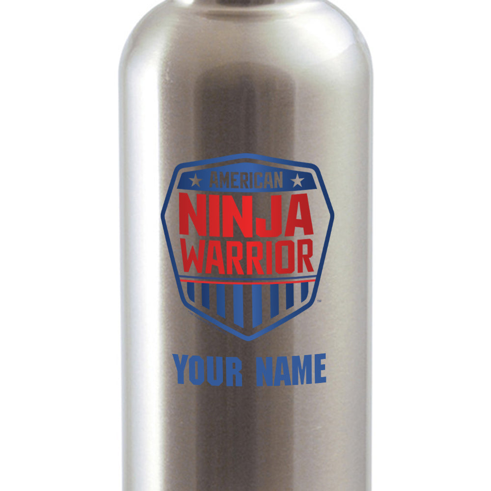Personalized American Ninja Warrior Stainless Steel Water Bottle-secondary-image