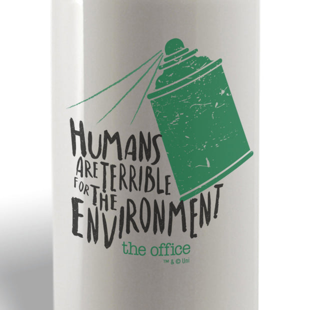 The Office Humans Are Terrible for the Environment Water Bottle