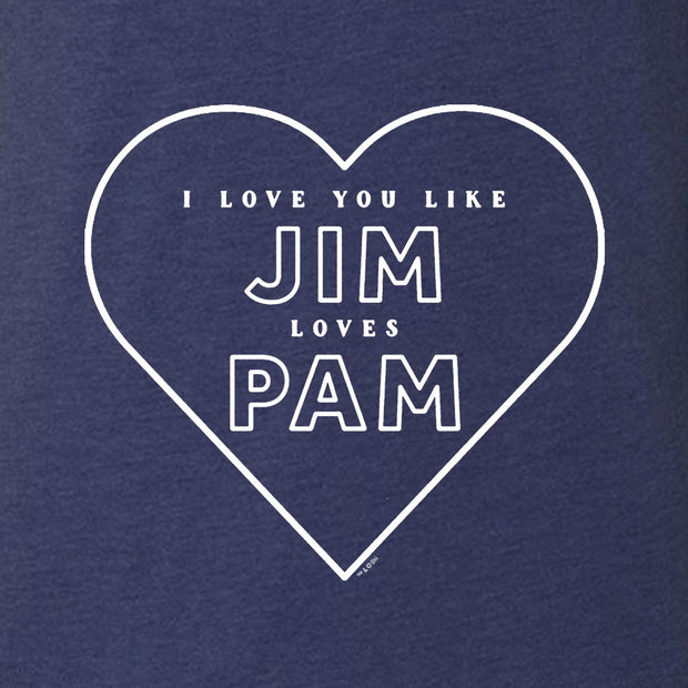 The Office Jim Loves Pam Men's Tri-Blend Short Sleeve T-Shirt