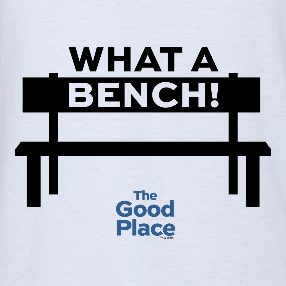 The Good Place What a Bench Baseball T-Shirt-secondary-image