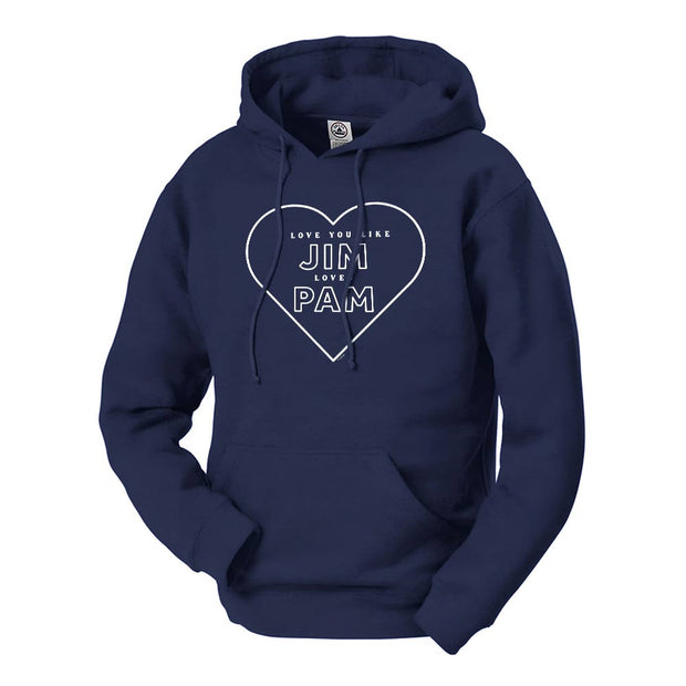 The Office Jim Loves Pam Hooded Sweatshirt