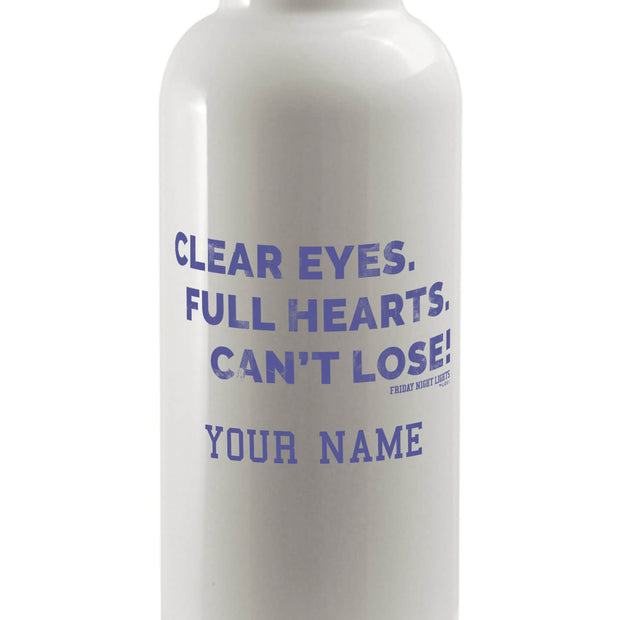 Personalized Friday Night Lights Clear Eyes Water Bottle