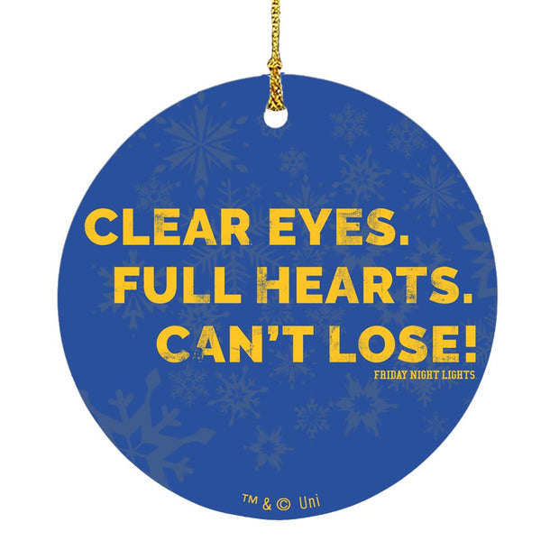 Friday Night Lights Clear Eyes Ornament