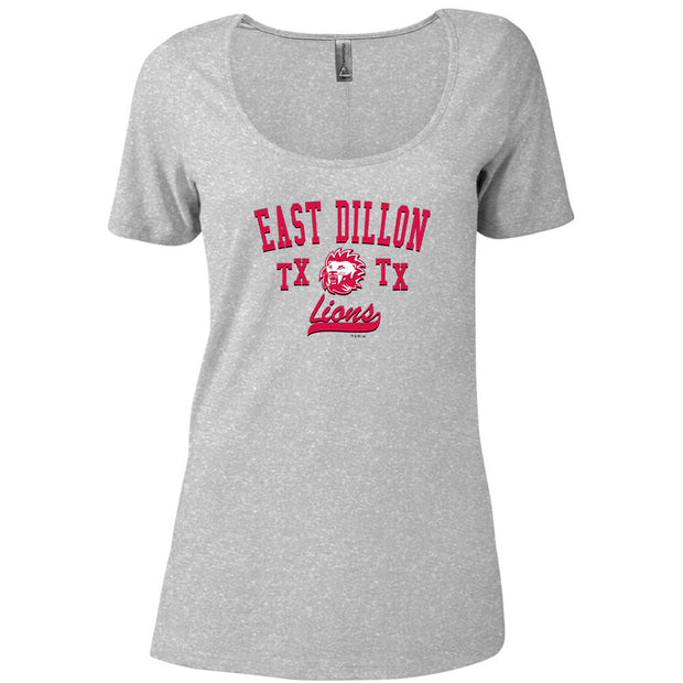 Friday Night Lights East Dillon TX Lions Women's Relaxed Scoop Neck T-Shirt