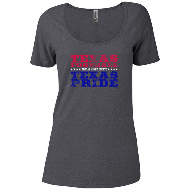 Friday Night Lights Texas Football Women's Relaxed Scoop Neck T-Shirt