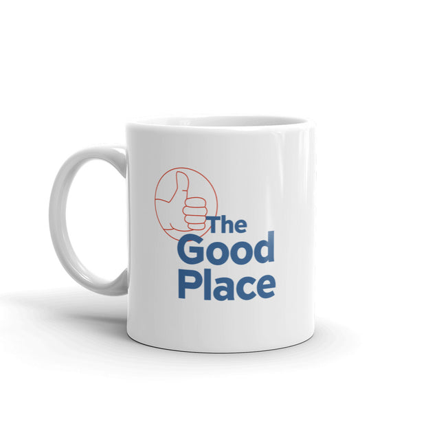 The Good Place Thumbs Up / Thumbs Down White Mug