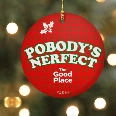 The Good Place Pobody's Nerfect Double-Sided Ornament