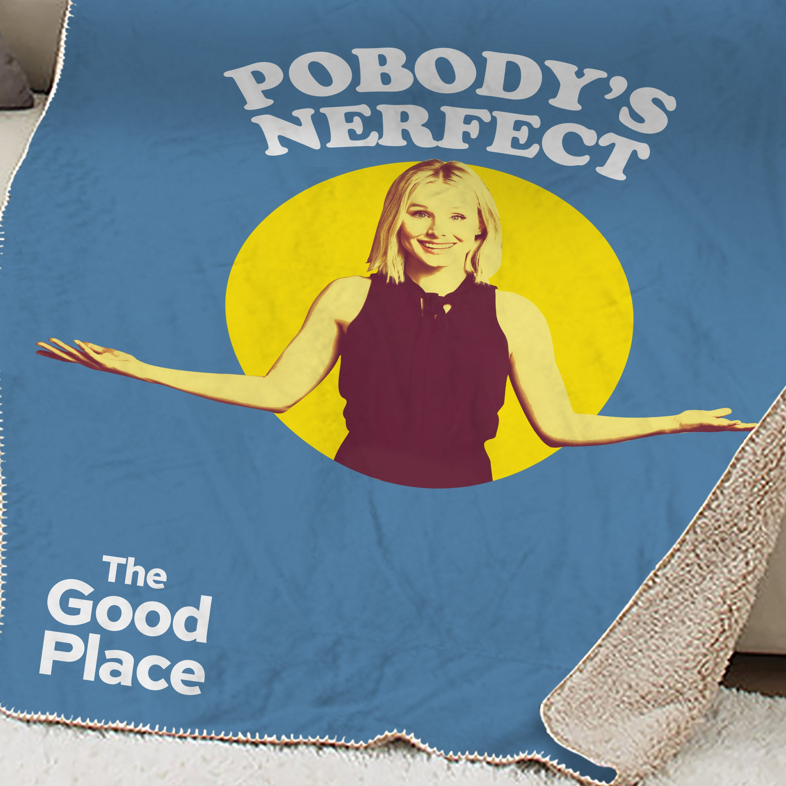 The Good Place Pobody's Nerfect Sherpa Blanket-secondary-image