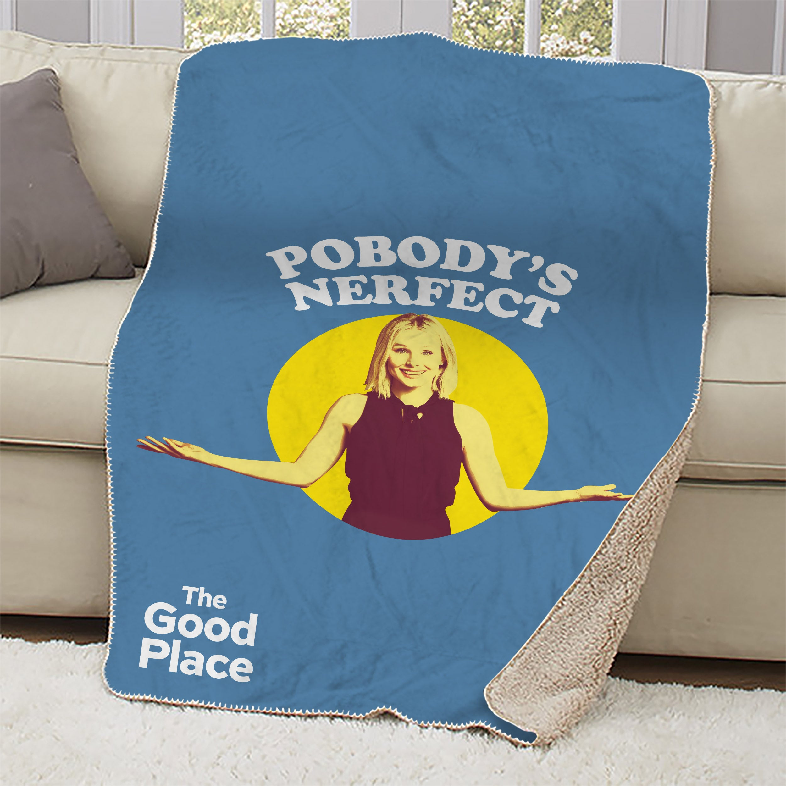 The Good Place Pobody's Nerfect Sherpa Blanket