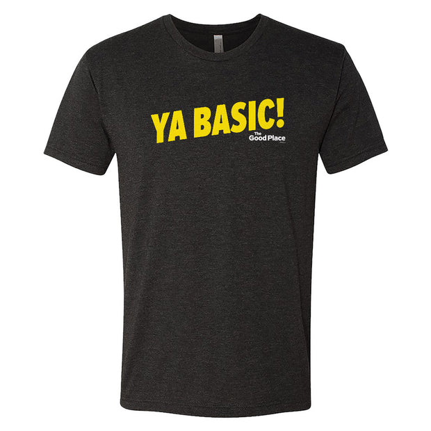 The Good Place Ya Basic Men's Tri-Blend Short Sleeve T-Shirt