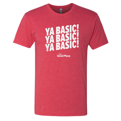 The Good Place Ya Basic X3 Men's Tri-Blend Short Sleeve T-Shirt