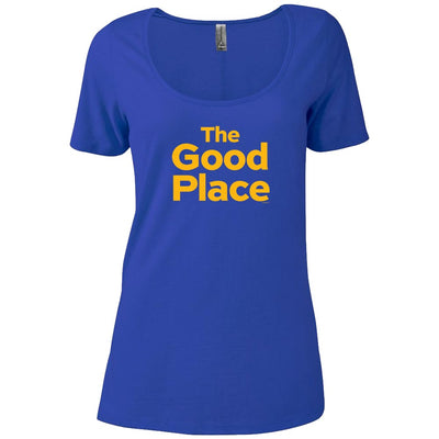 The Good Place Logo Women's Relaxed Scoop Neck T-Shirt