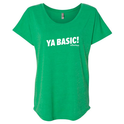 The Good Place Ya Basic! St. Patrick's Day Women's Tri-Blend Dolman T-Shirt