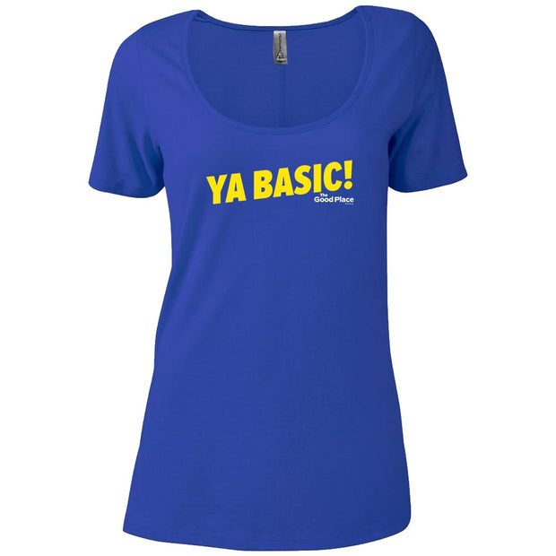 The Good Place Ya Basic Women's Relaxed Scoop Neck T-Shirt