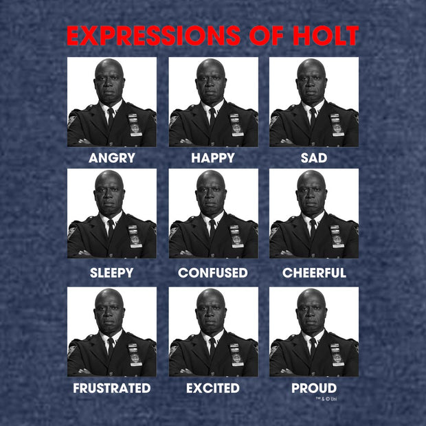 Brooklyn Nine-Nine Expressions of Holt Tri-Blend Raglan Hoodie