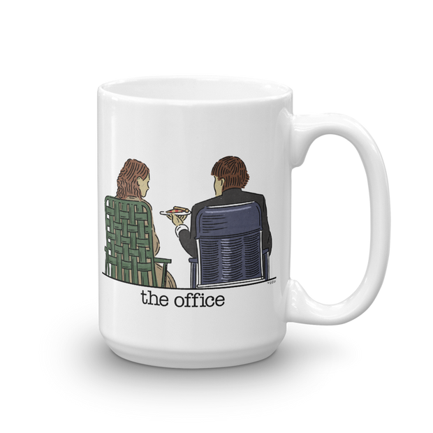 The Office Jim and Pam Roof Date White Mug