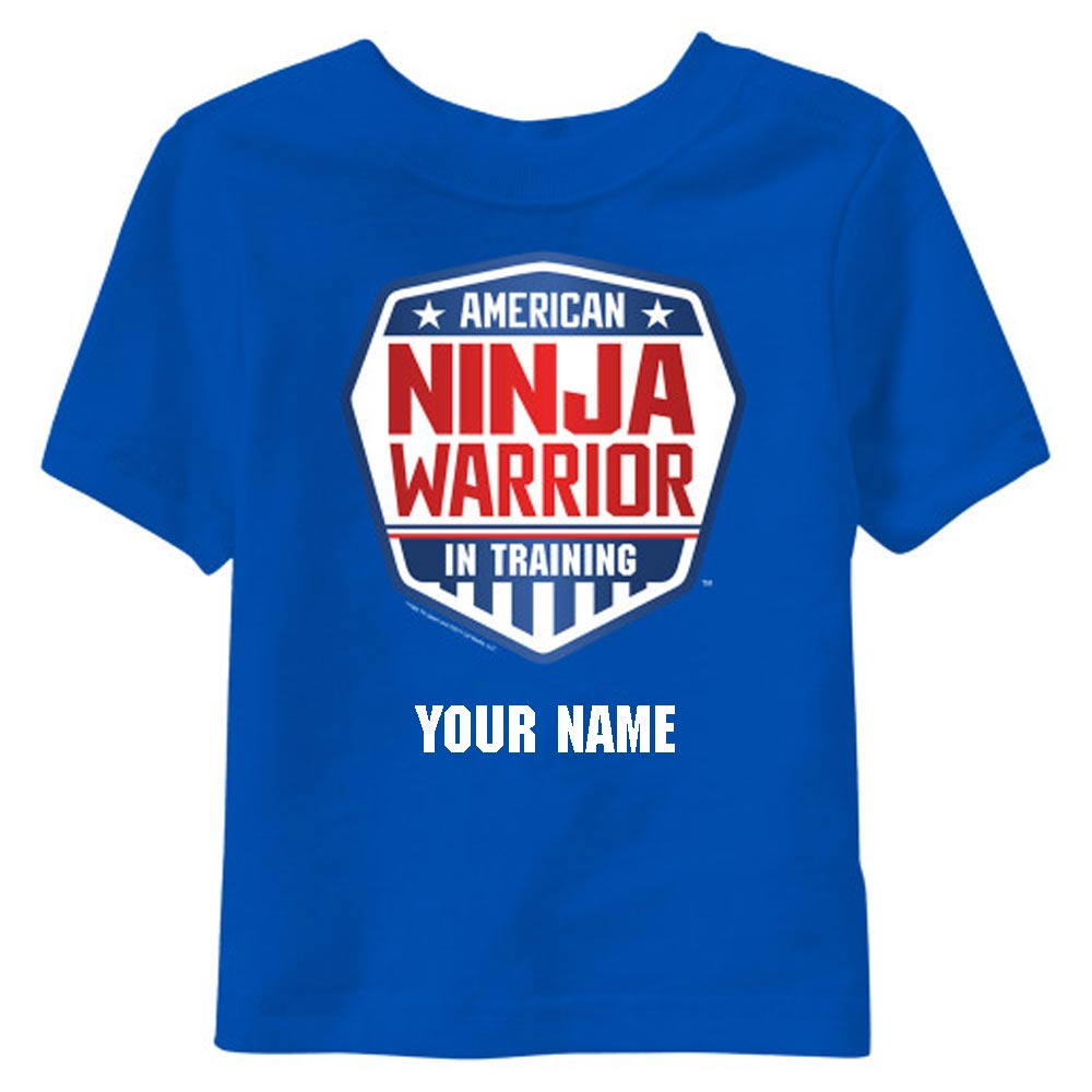 Personalized American Ninja Warrior In Training Kids T-Shirt-secondary-image
