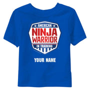 Personalized American Ninja Warrior In Training Toddler T-Shirt