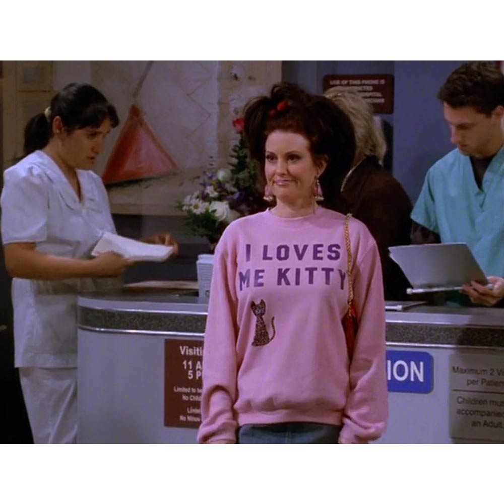 Will & Grace I Loves Me Kitty Lightweight Crew Neck Sweatshirt-secondary-image