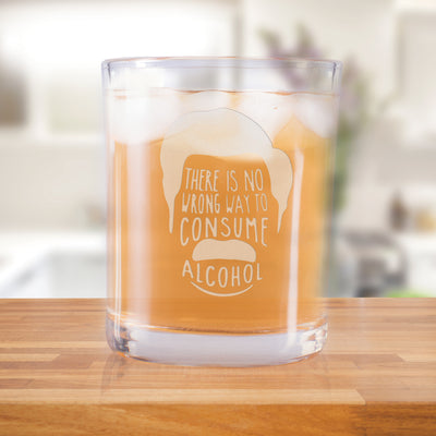 Parks and Recreation No Wrong Way to Consume Alcohol Rocks Glass