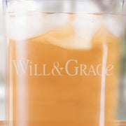 Will & Grace Logo Rocks Glass