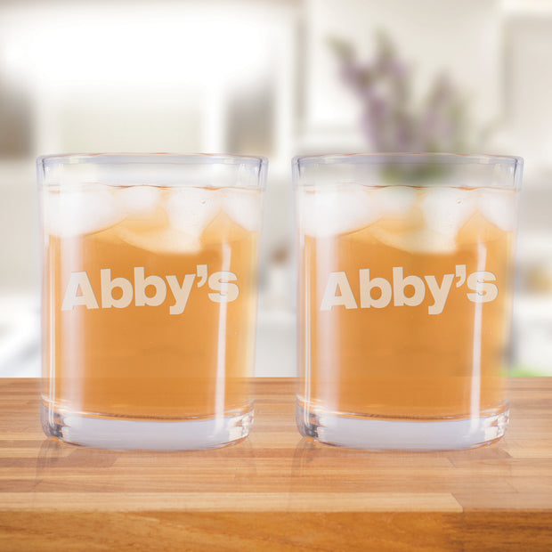 Abby's Logo Rocks Glasses - Set of 2