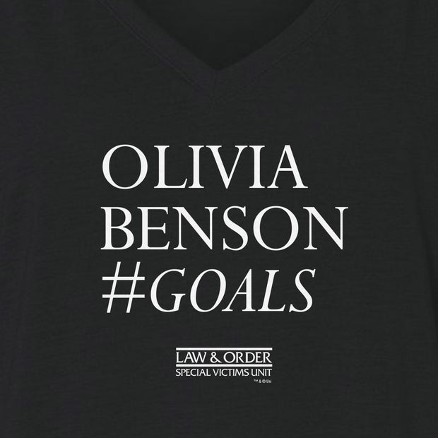 Law & Order: SVU Olivia Benson #Goals Women's Relaxed V-Neck T-Shirt