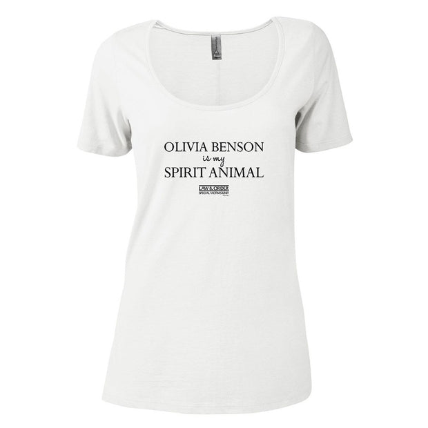 Law & Order: SVU Benson is my Spirit Animal Women's Scoop Neck T-Shirt