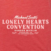 The Office Michael Scott Lonely Hearts Convention Tri-Blend Tank Top