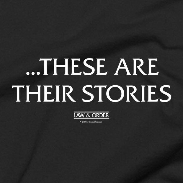 Law & Order These Are Their Stories Hooded Sweatshirt