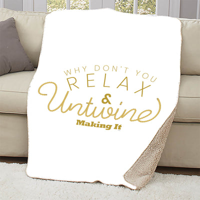 Making It Relax and Untwine Sherpa Blanket - 37 X 57