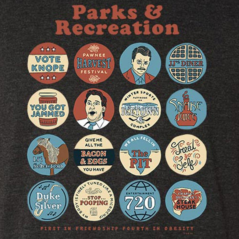 Parks and Recreation Quote Mash-Up Men's Tri-Blend Short Sleeve T-Shirt-secondary-image
