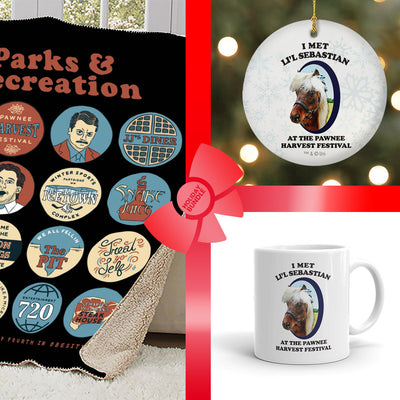 Parks and Recreation Li'l Sebastian and Quote Mash-Up Bundle