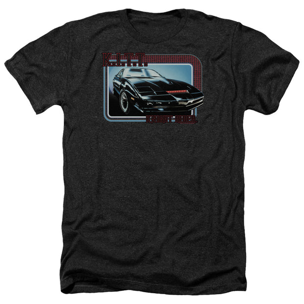 Knight Rider KITT Black Heather Short Sleeve T-Shirt