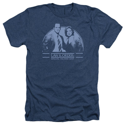 Law & Order: SVU Elliot & Olivia Navy Heather Short Sleeve T-Shirt