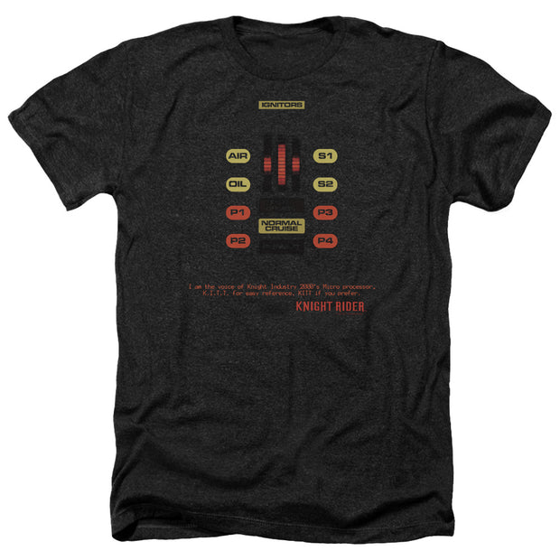 Knight Rider KITT Console Heather Short Sleeve T-Shirt