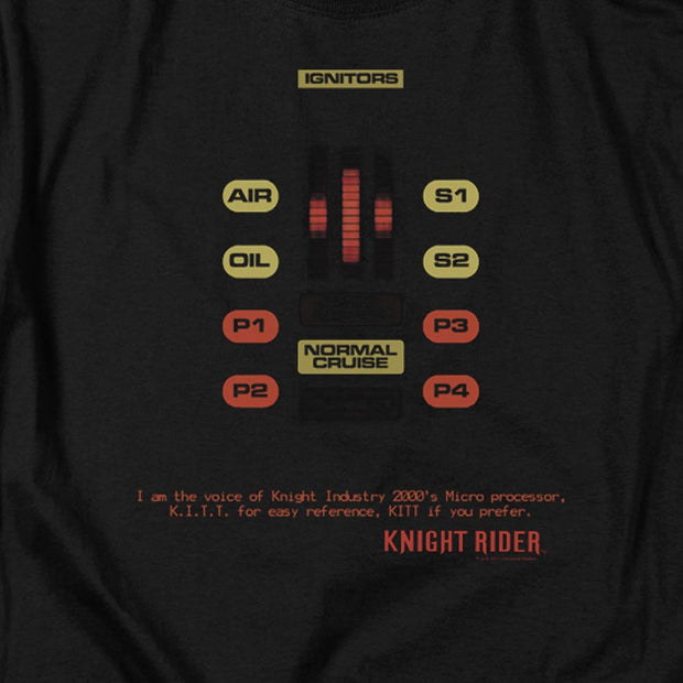 Knight Rider KITT Console Men's Short Sleeve T-Shirt