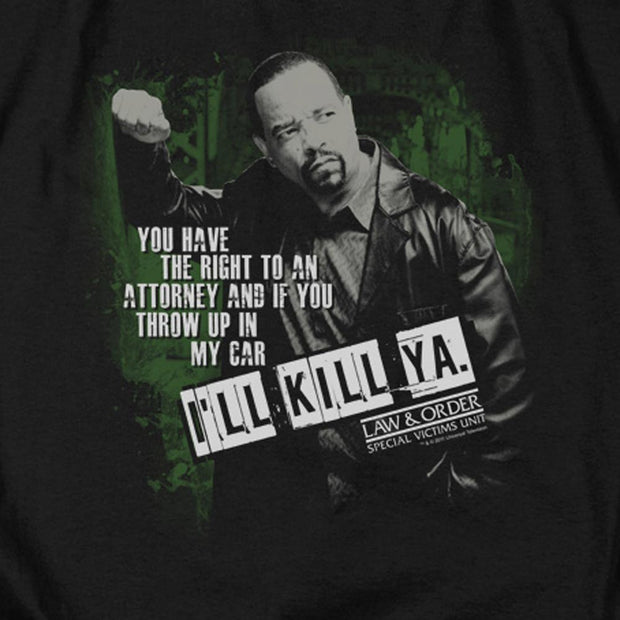 Law & Order: SVU I'll Kill Ya Black Heather Short Sleeve T-Shirt