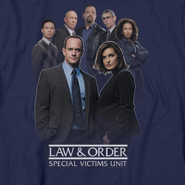 Law & Order: SVU Team Navy Heather Short Sleeve T-Shirt