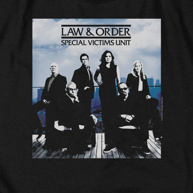 Law & Order: SVU Crew 13 Black Heather Sleeve T-Shirt