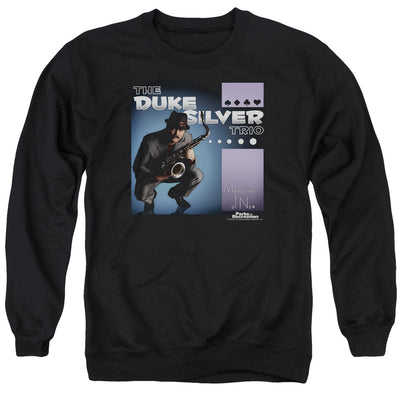 Parks and Recreation The Duke Silver Trio Crew Neck Sweatshirt