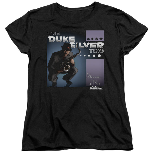 Parks and Recreation The Duke Silver Trio Women's Short Sleeve T-Shirt