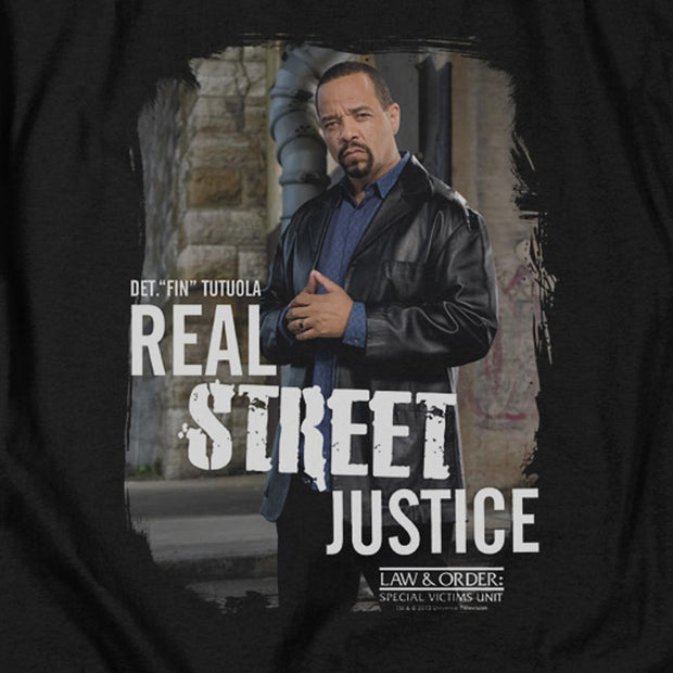 Law & Order: SVU Street Justice Black Heather Short Sleeve T-Shirt