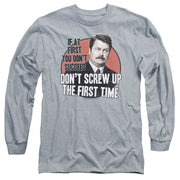 Parks and Recreation Don't Screw Up Long Sleeve T-Shirt